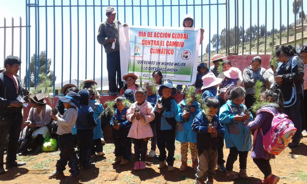 Peruanische Kinder protestieren