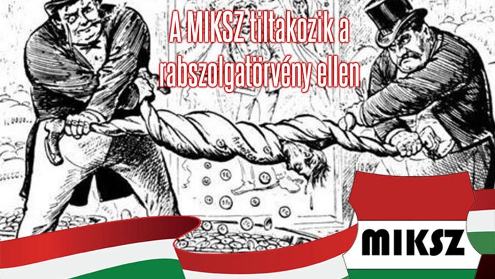 Die Stärkung revolutionärer und marxistisch-leninistischer Organisationen wie MIKSZ in Ungarn ist dringend nötig (grafik MIKSZ)