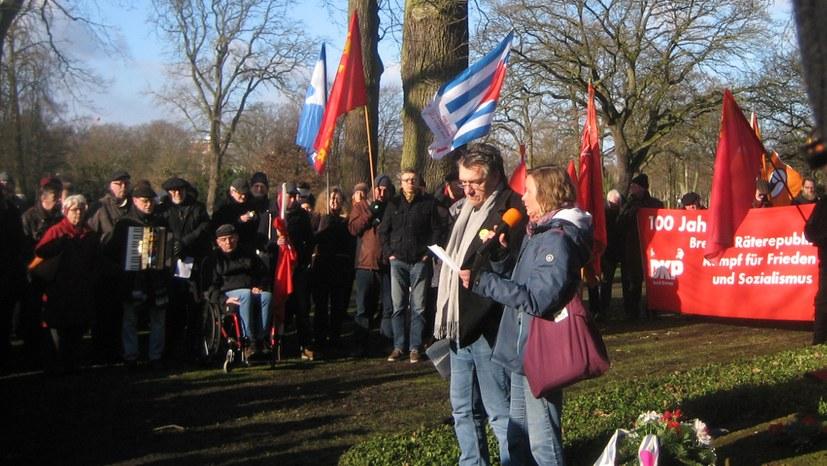 Würdiges Gedenken an die Bremer Räterepublik
