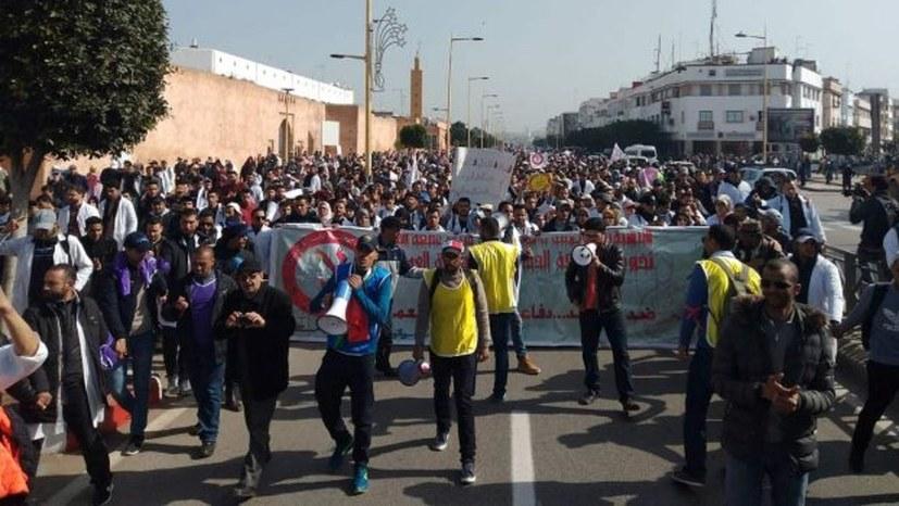 Polizeiangriff auf Lehrerdemonstration