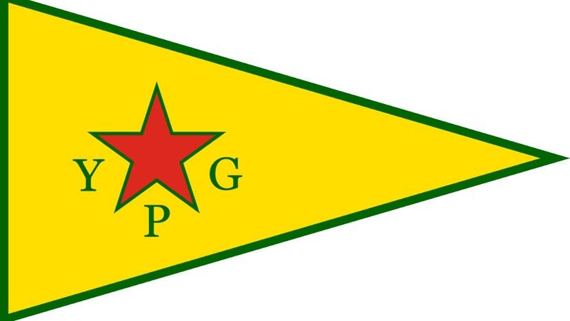 Polizei beschlagnahmt YPG-Fahne