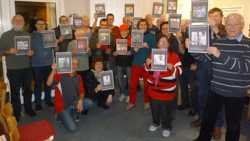 Protest- und Solidaritätskundgebung vor der chinesischen Botschaft