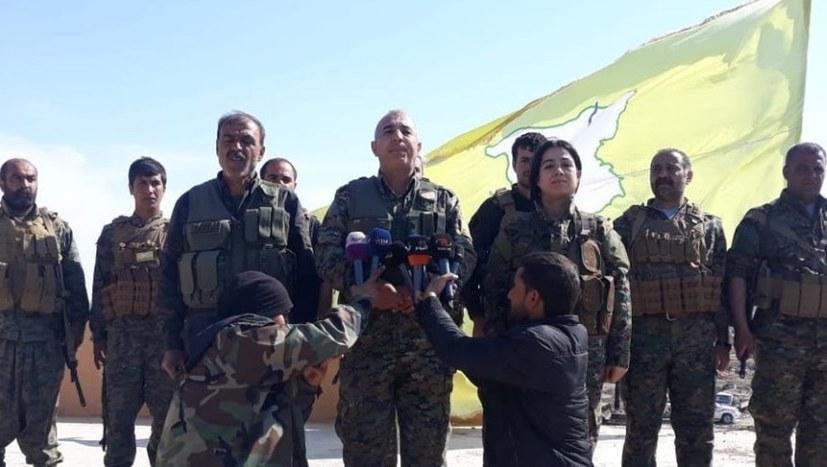 SDF-Fahne weht über al-Bagouz
