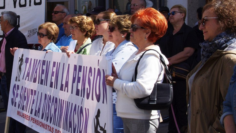 Protest für den Erhalt des öffentlichen Rentensystems