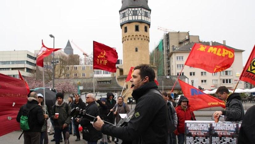 Frankfurt am Main: Anziehender Block des Internationalistischen Bündnisses