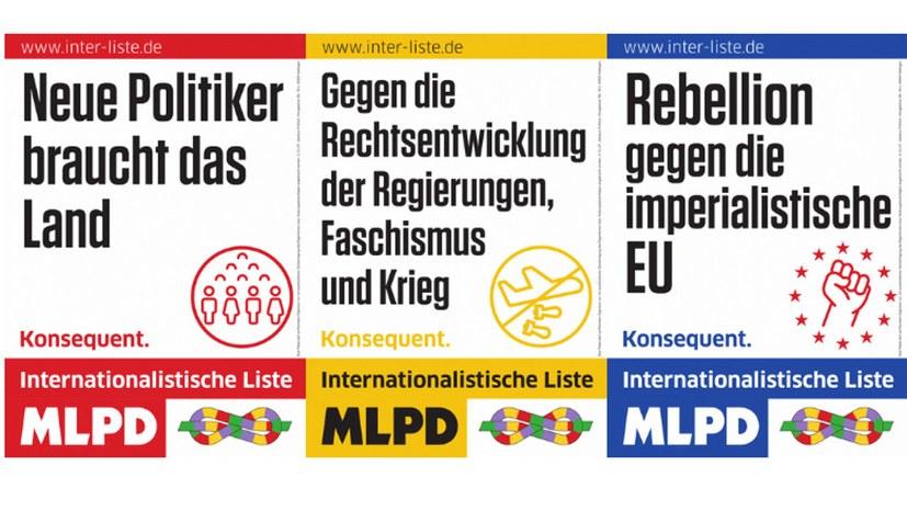 Werbematerialien für den Europawahlkampf