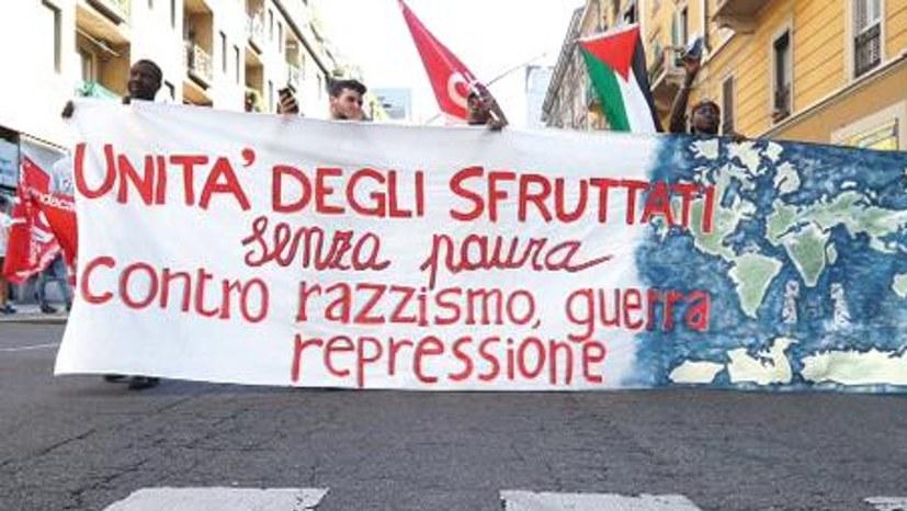 Lautstarker antifaschistischer Protest gegen Salvini und Co