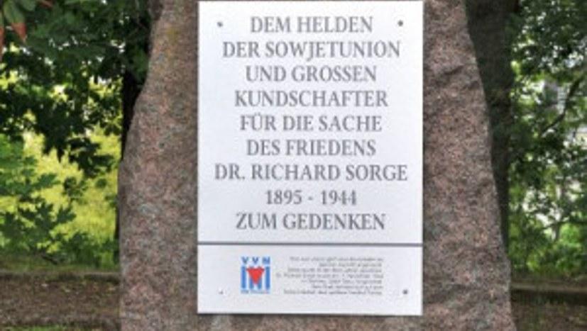 Gedenken an Dr. Richard Sorge Chemnitz
