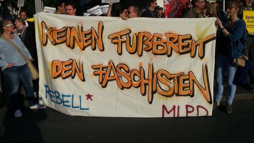 MLPD - konsequent gegen faschistische Bestrebungen und ihre Verstrickung mit Teilen des Staatsapparats (Foto: RF)