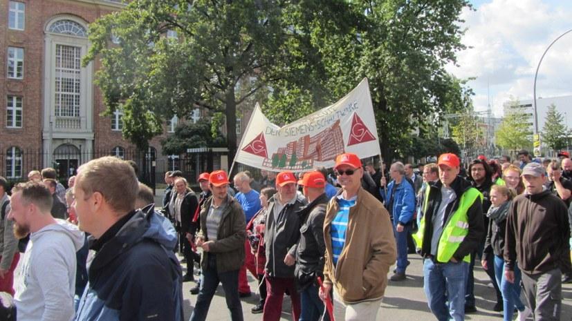 Siemens-Belegschaften protestieren in Berlin