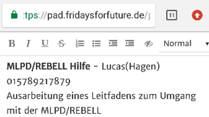 """""""Hilfe-Nummer"""" gegen MLPD und REBELL?"""