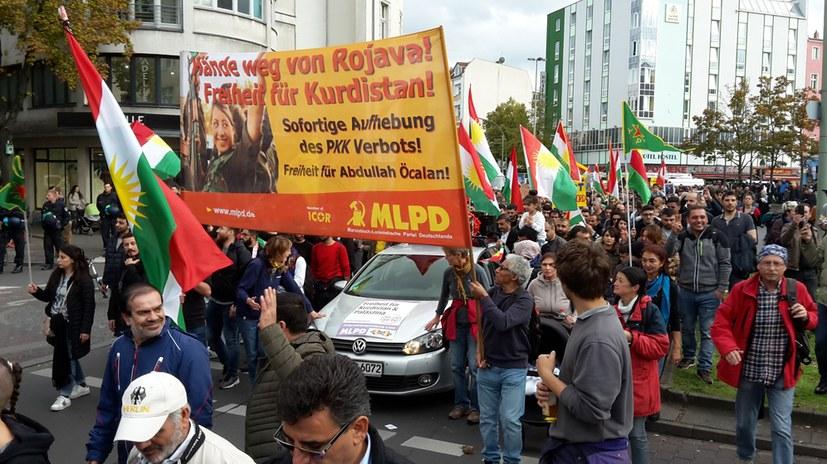Internationalistische Demo der Solidarität mit Rojava und Palästina