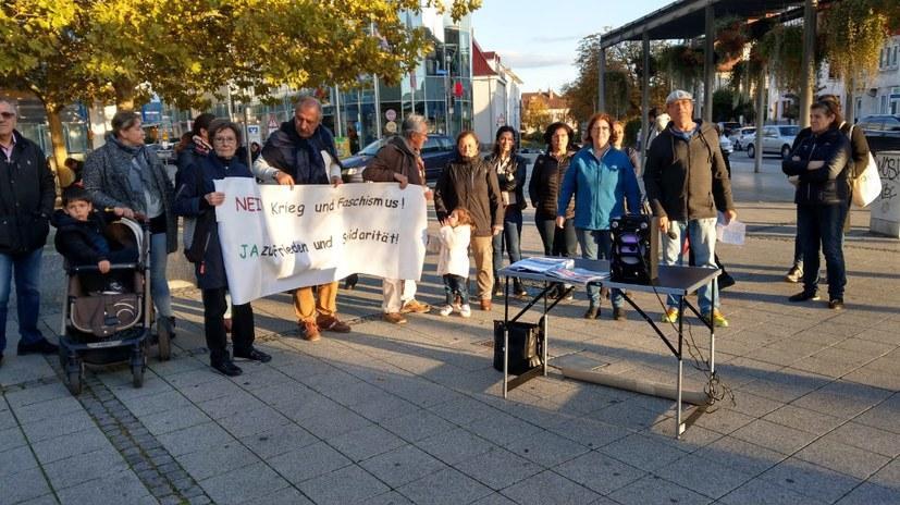 Protest gegen scheinheilige Politik der Bundesregierung