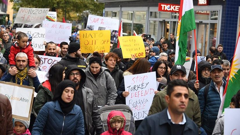 Türkia ut av Rojava, sammet, sammet for Fred!