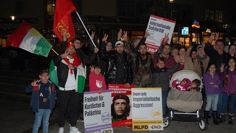 Kulturvolle würdige Solidaritätsdemonstration