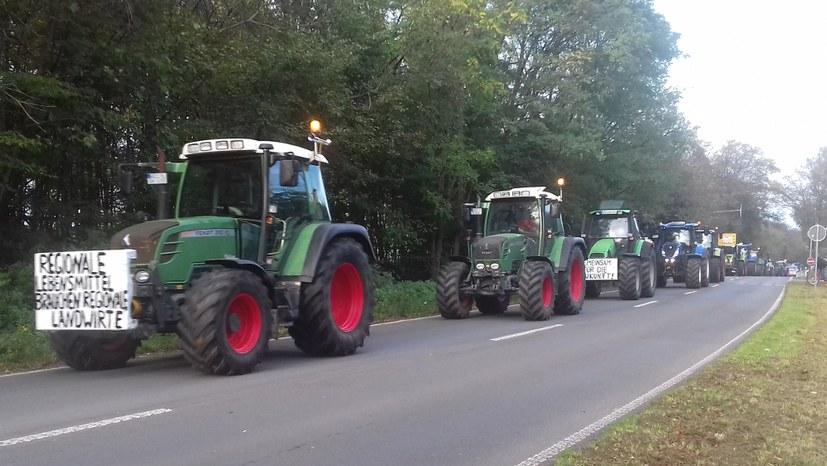 6.000 Bauern protestieren in und um Bonn