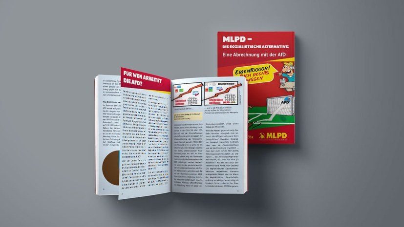 """Plakate für Broschüre der MLPD """"Eine Abrechnung mit der AfD"""" sind erschienen"""