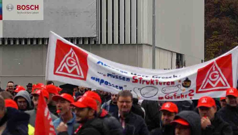 Kämpferischer Protest bei Bosch AS