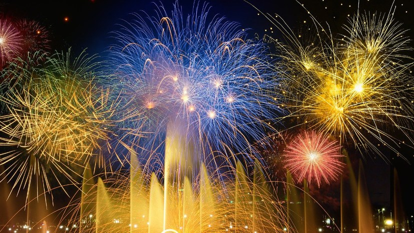 Zwei Wege, das neue Jahr zu begrüßen ...
