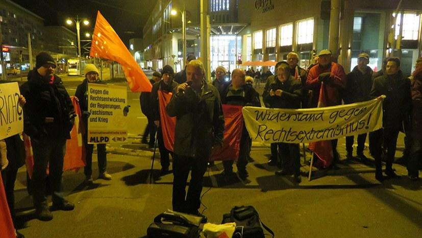Überparteiliche Kundgebung und Demonstration in Gera