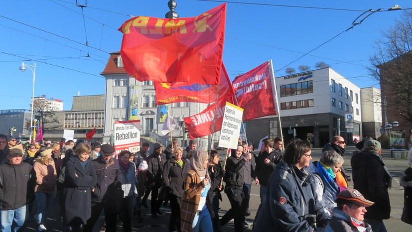 Demo gegen die AfD und den ultrarechten Tabu-Bruch im Landtag