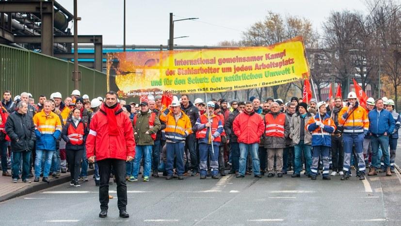 Streik der Stahlarbeiter in Hüttenheim - das ist der richtige Weg