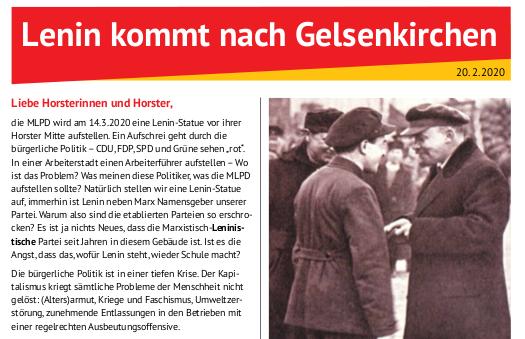 """""""Lenin kommt nach Gelsenkirchen"""""""