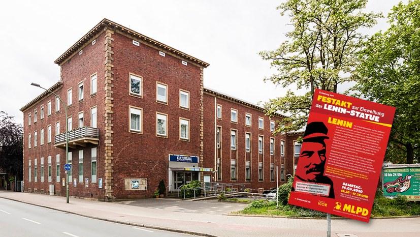 """Kultursaal Horster Mitte wieder geöffnet - Absage Revue """"100 Jahre Rote Ruhrarmee"""" – Lenin-Enthüllung findet statt"""