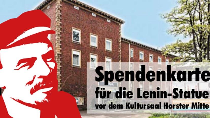 """""""Deine Spende für die Lenin-Statue"""""""