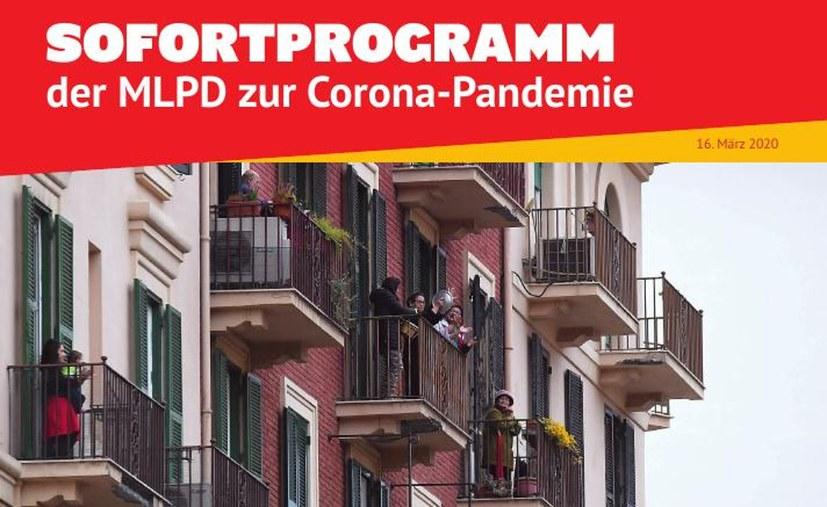 Das Sofortprogramm der MLPD zur Corona-Pandemie jetzt auch als Flugblatt