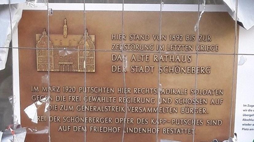 Gedenktafel für die im Kapp-Putsch Gefallenen in Berlin-Schöneberg