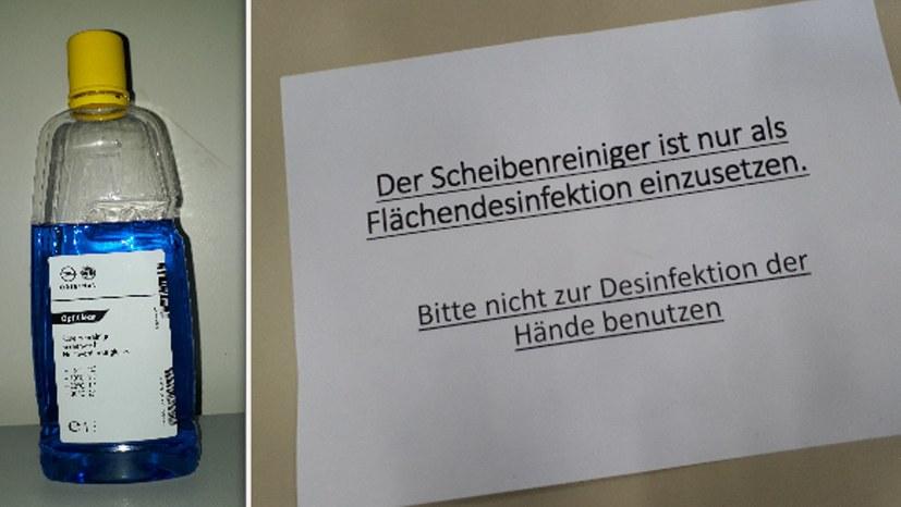 """Opel-Geschäftsleitung verabreicht Scheibenreiniger zur """"Desinfektion"""""""