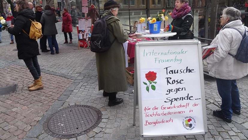 Tausche Rose gegen Spende