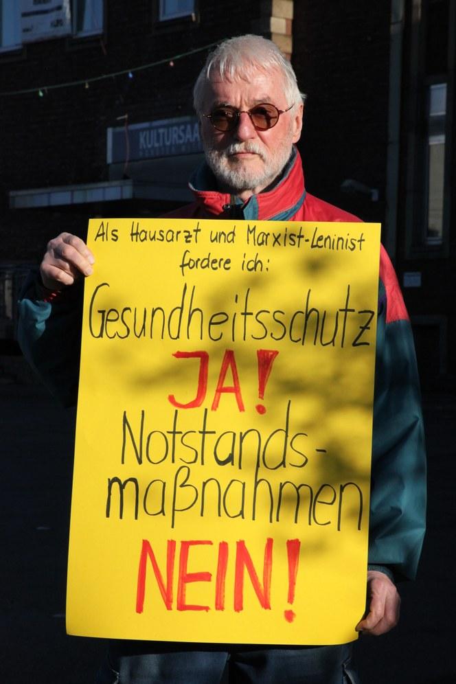 Gelsenkirchen: Protest gegen Notstandsmaßnahmen