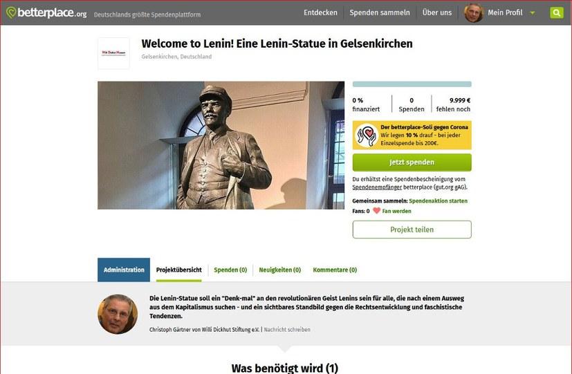 Zur Finanzierung der Lenin-Statue in Gelsenkirchen