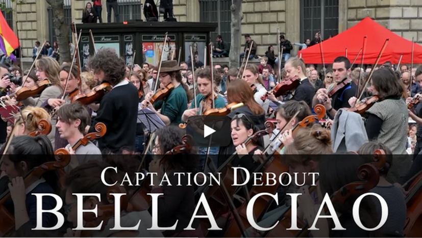 """""""Bella Ciao"""" auf der Place de la République in Paris"""