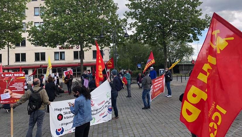 Gemeinsame Kundgebung des Internationalistisches Bündnisses