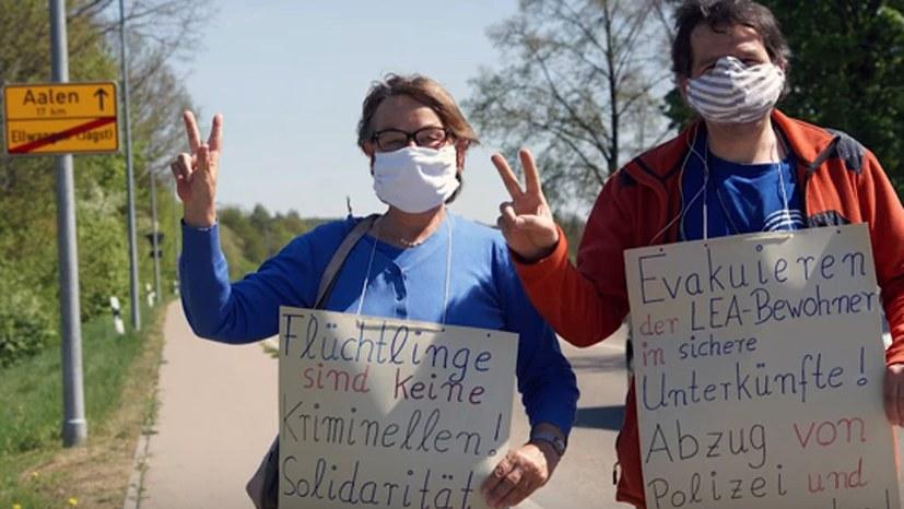 Solidarisch mit dem Protest der LEA-Bewohner in Ellwangen