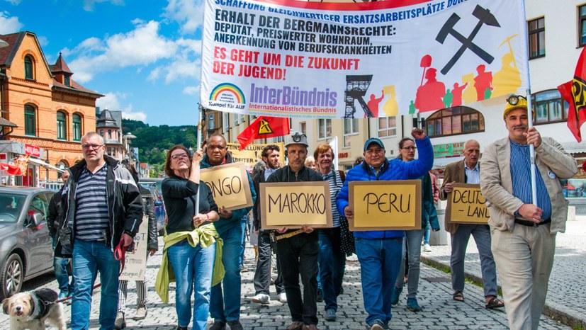 Solidarität mit der Bergarbeitergewerkschaft FOSYCO im Kongo