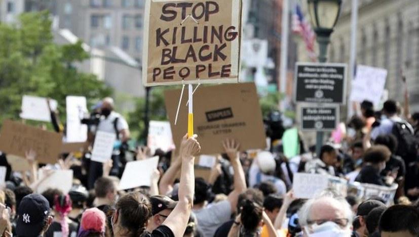 Gestern landesweite Massenproteste gegen Polizeigewalt