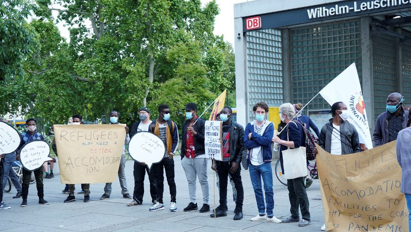 """Kundgebung und Demonstration anderer Art von """"Solidarität International"""""""