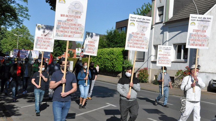 Großes Medienecho auf gemeinsame Demo von Kraftwerksgegnern und Bergarbeitern