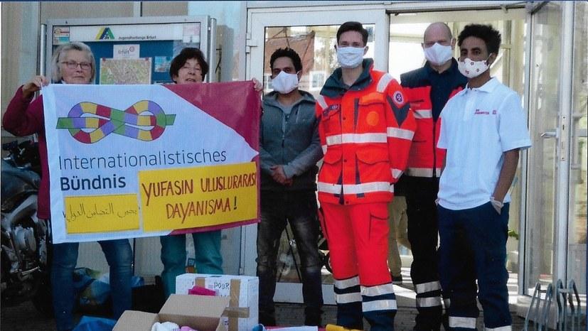 Internationalistisches Bündnis zeigt Solidarität mit Flüchtlingen
