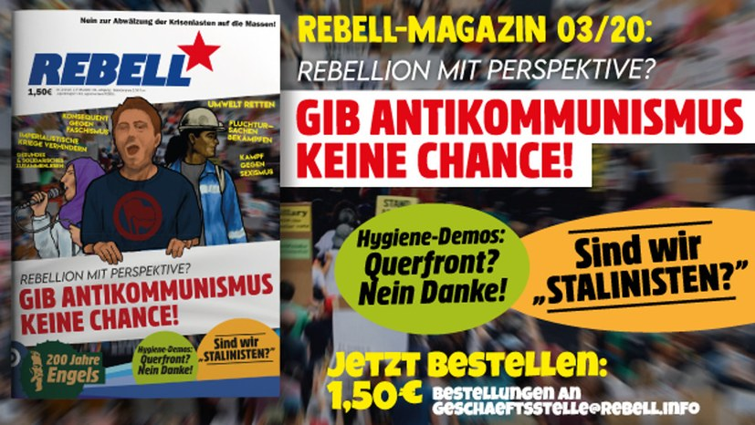 """REBELL-Magazin"" war der Renner bei ""Black-Lives-Matter""-Demo"