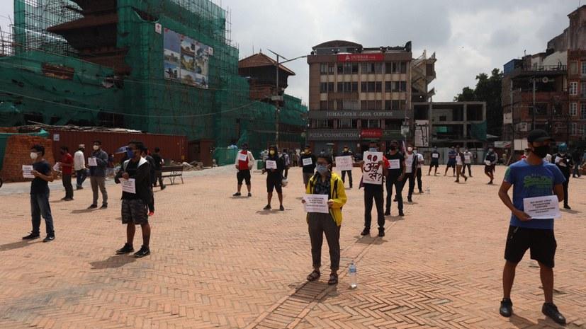 Proteste gegen das Regierungsmanagement zur Covid-19-Pandemie