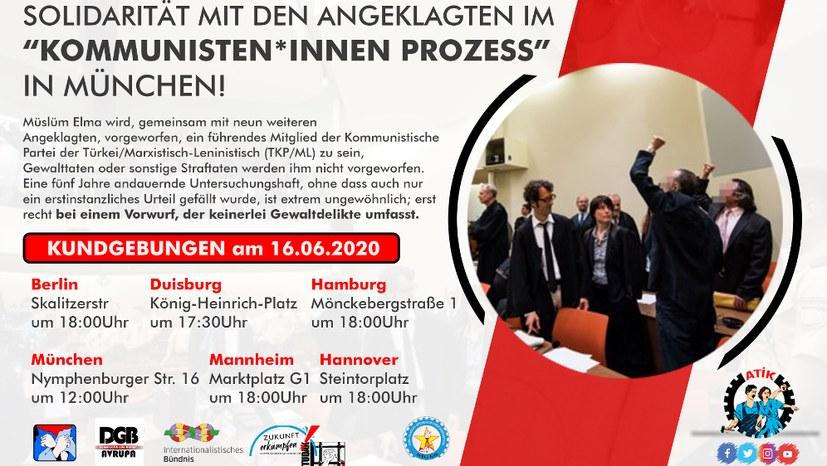 """""""Solidarität mit den Angeklagten in München"""""""