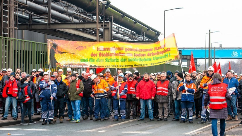 TKSE Duisburg – Stolz auf selbständigen Streik