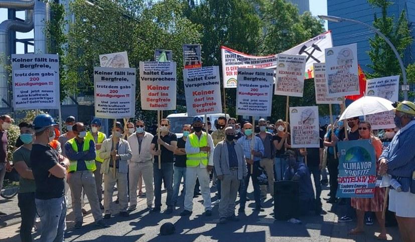 13. Demonstration gegen die Politik der verbrannten Erde der RAG