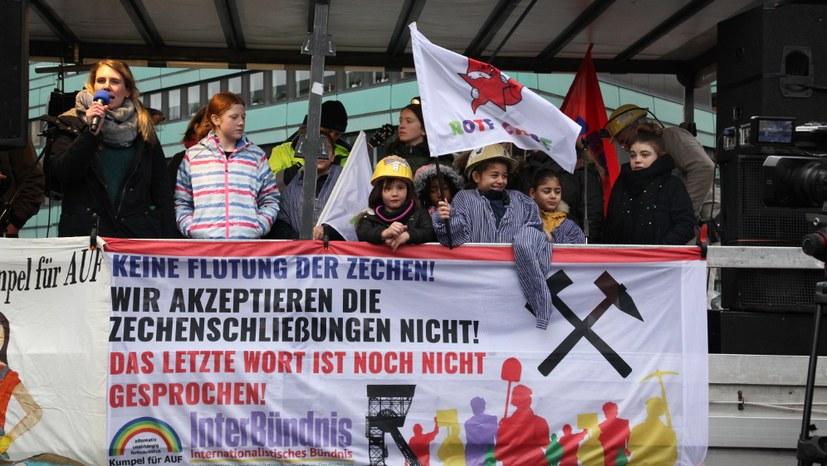 Bergleute demonstrieren das dreizehnte Mal – diesmal in Gelsenkirchen-Hassel