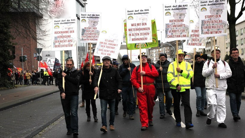 Gelsenkirchen begrüßt 13. Bergarbeiterdemonstration